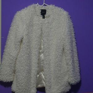 Open Front Faux Fur Coat. Make A Offer.